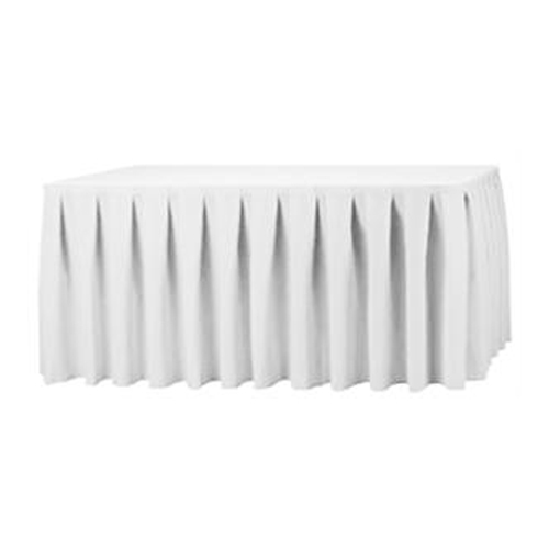 White Pleated Table Skirt $50