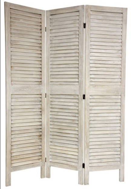Whitewashed Shutter Screen $50
