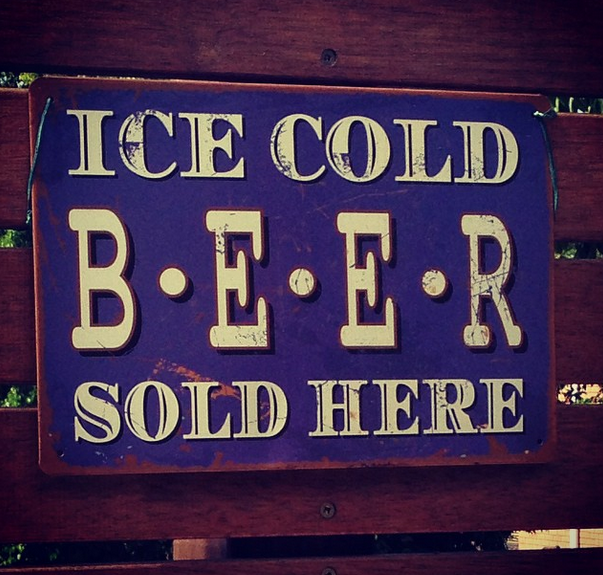 Metal Beer Sign $8