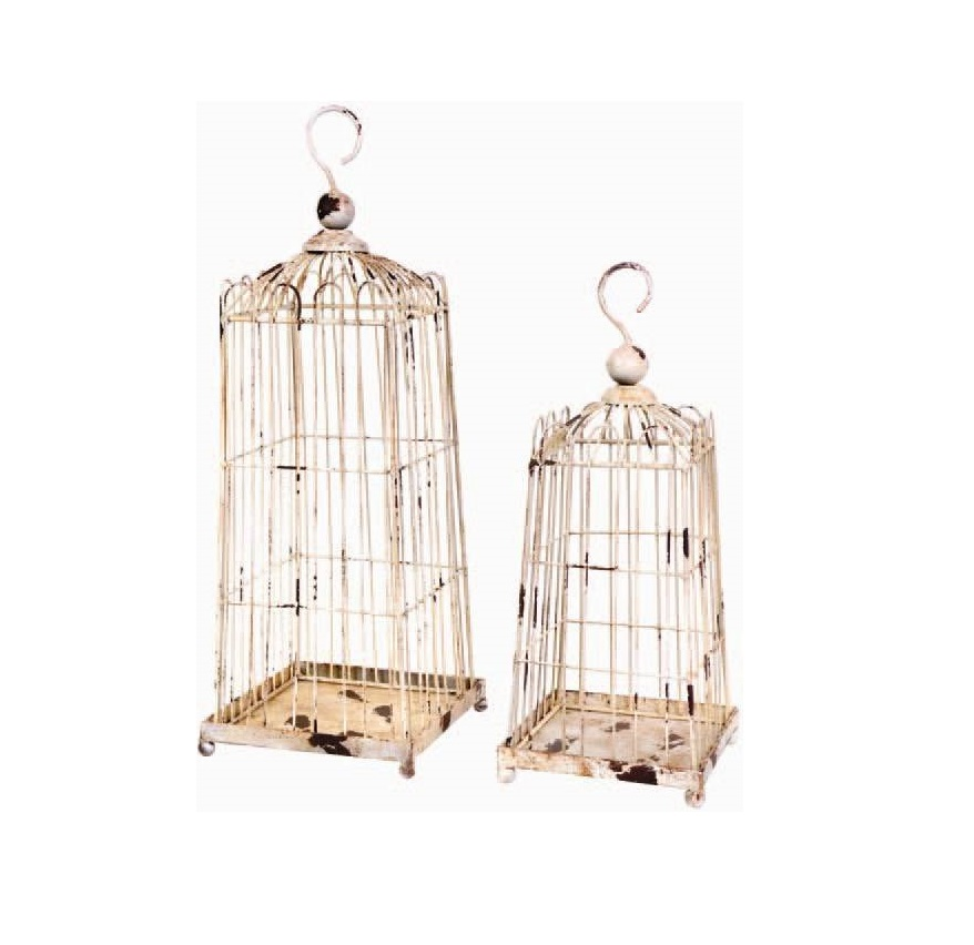 White Rustic Lanterns $25