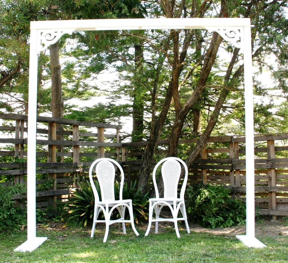 White Wooden Cane Chairs $12