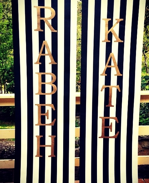 Stripe Wallpaper Signage $20