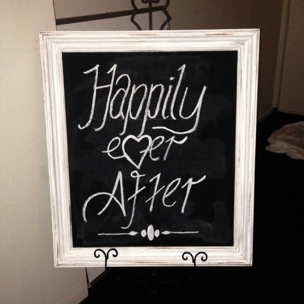 White Framed Blackboard $20