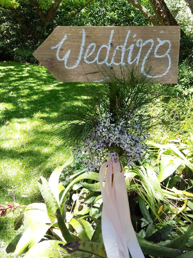 Wooden Arrow Signage $12