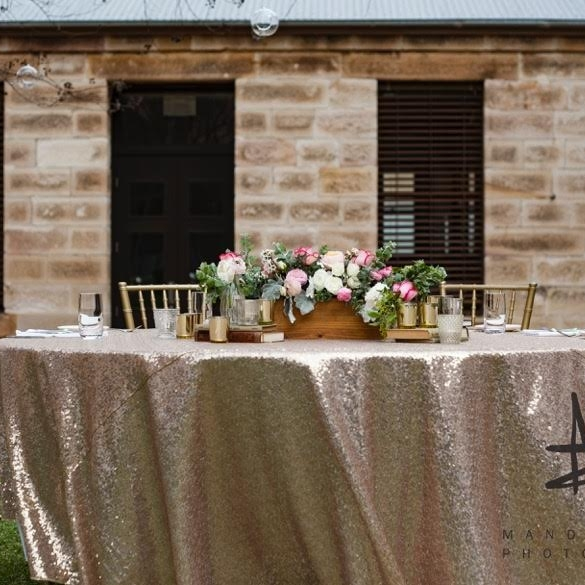 Sequin Circular Table Cloth $50