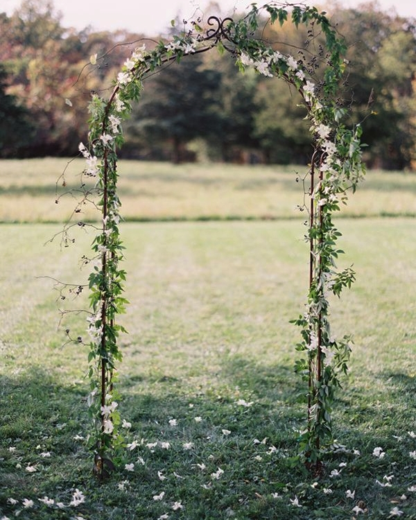 Rustic Arch with Greenery $200