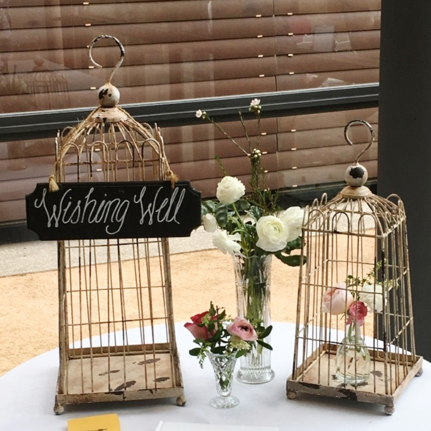 Rustic White Bird Cages $30 each