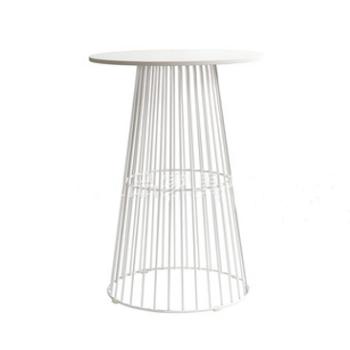NEW White Metal Bar Table $60