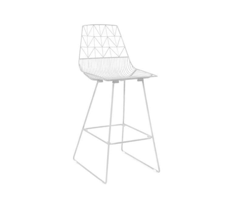 NEW White wire stools $18