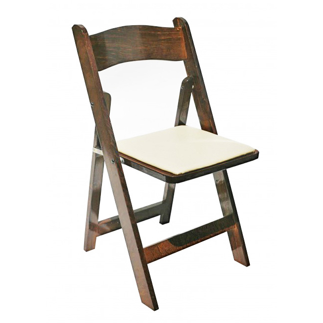 Brown Wooden Folding Chair $8