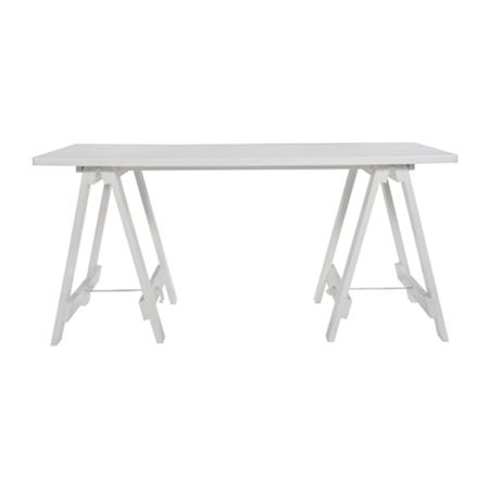 White Wooden Trestle Table $40