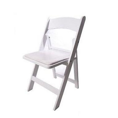 White Folding Chairs $7