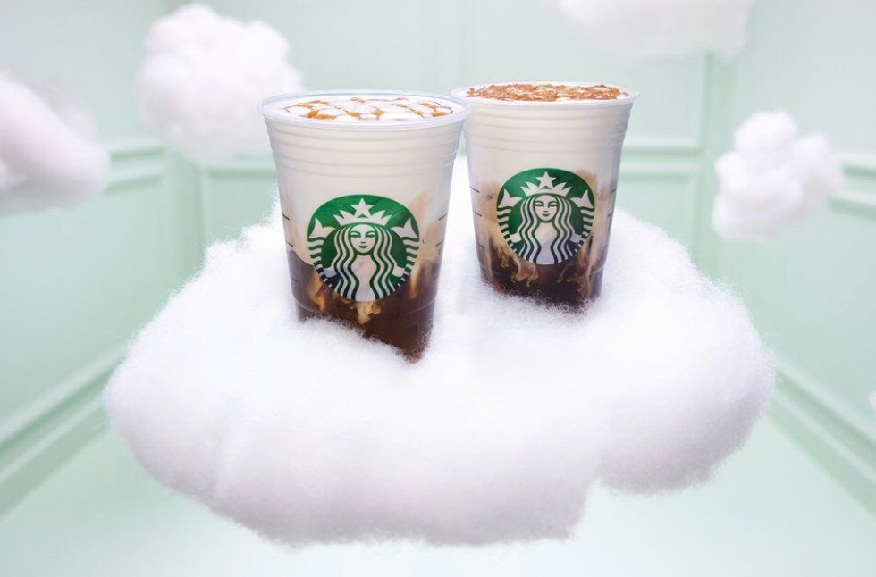 - It's embarrassing how many of these I've had these week. I've always been a caramel macchiato lover and these take it to the next level. Available in caramel and cinnamon. Yum! Available in both hot and iced.Find it here.