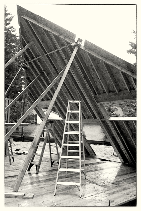 Framing a Large Gable Wall - Lake Oswego