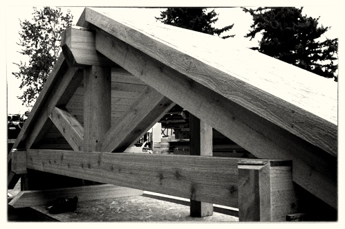 Custom Cedar Gable Built Off Site - Willamette Park