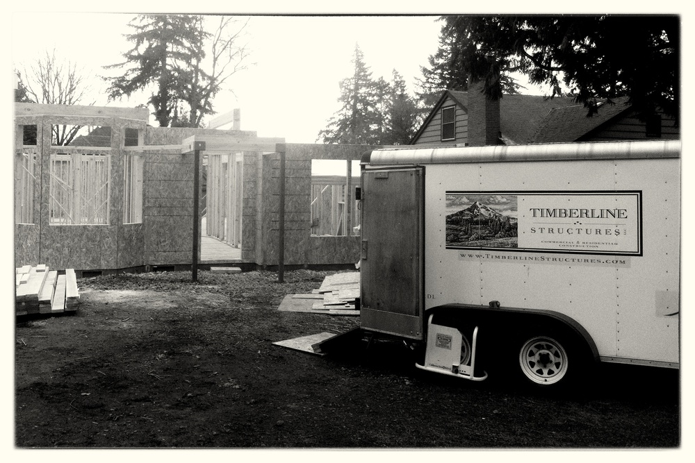 Job Trailer on Framing Project - Lake Oswego