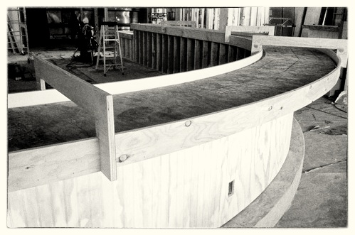Curved Concrete Countertop Forms - Beaverton