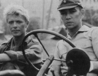 Left-to-Right: Jack Celliers (Bowie) with Captain Yonoi (Sakamoto)