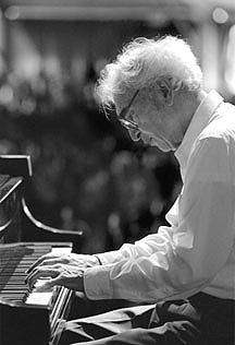 Dave Brubeck on Piano at Jazz Bakery Exhibition 2002