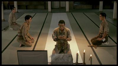 L-to-R: Colonel John Lawrence (Conti), Sergeant Hara (Kitano), Captain Yonoi (Sakamoto)