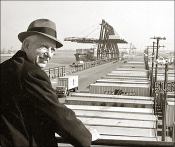 Malcom McLean - Father of the modern shipping container.