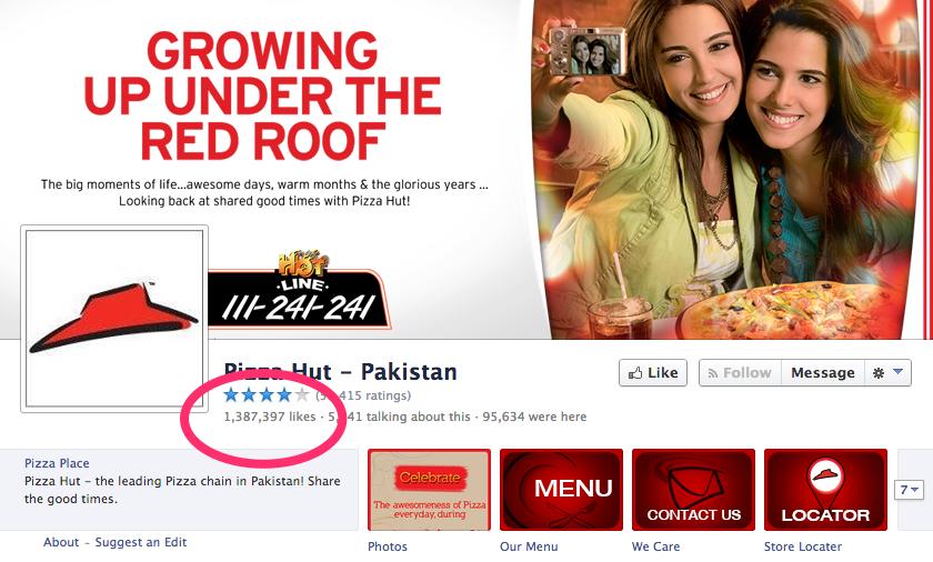 Pizza Hut Pakistan Page