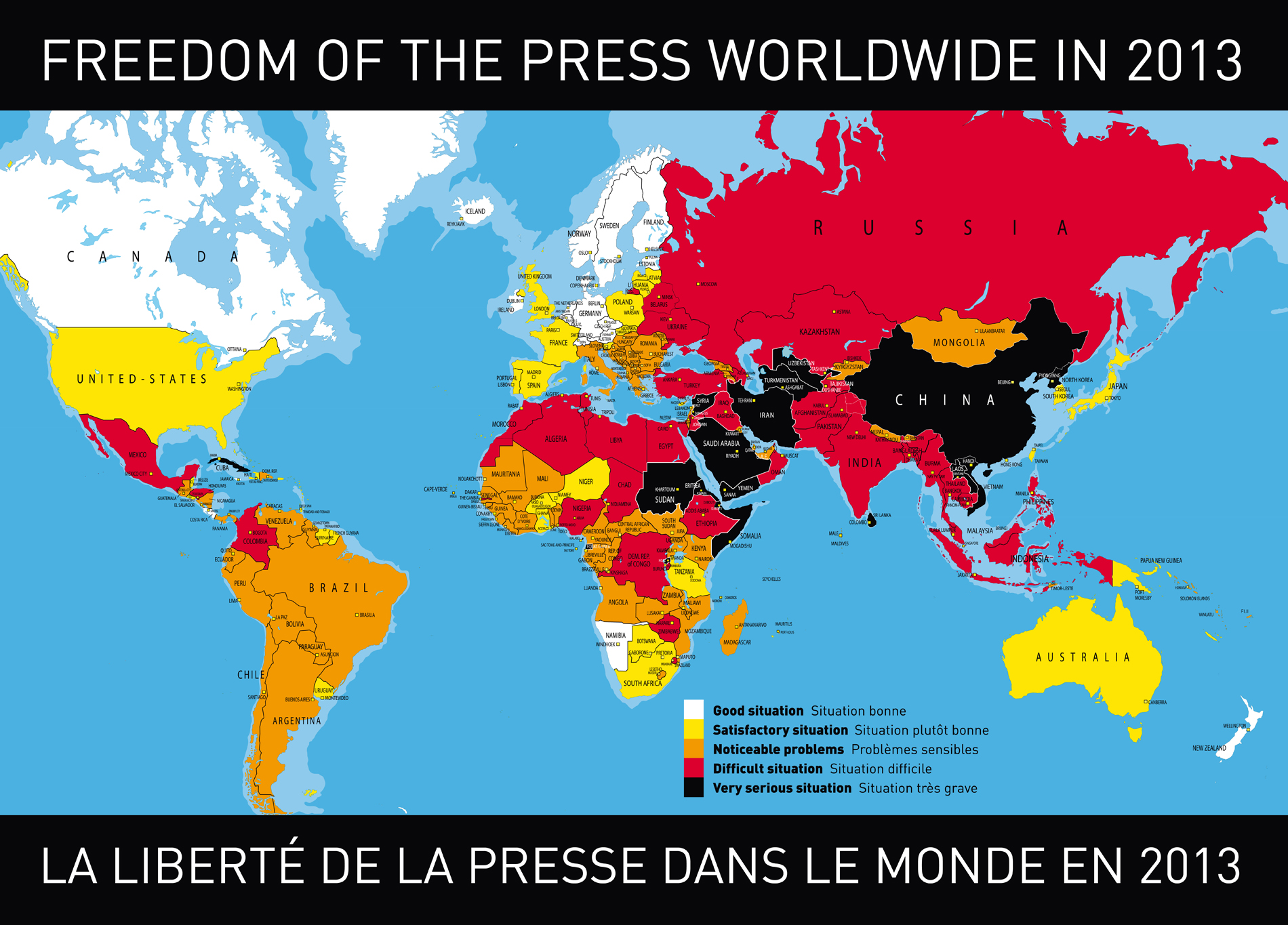 Press Freedom Index 2013 Map