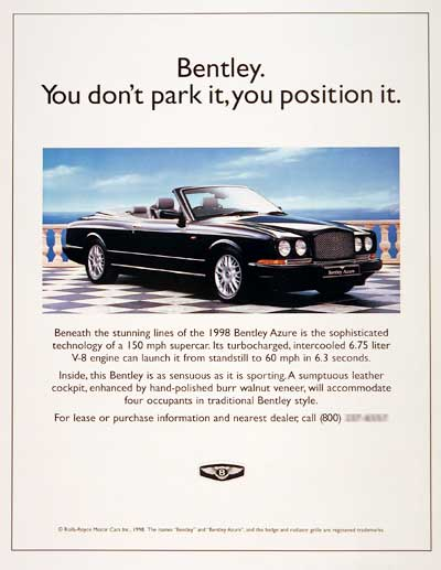 Bentley Advertisement