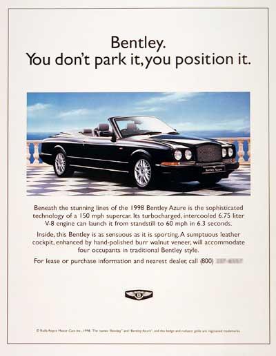 Bentley Advertisement