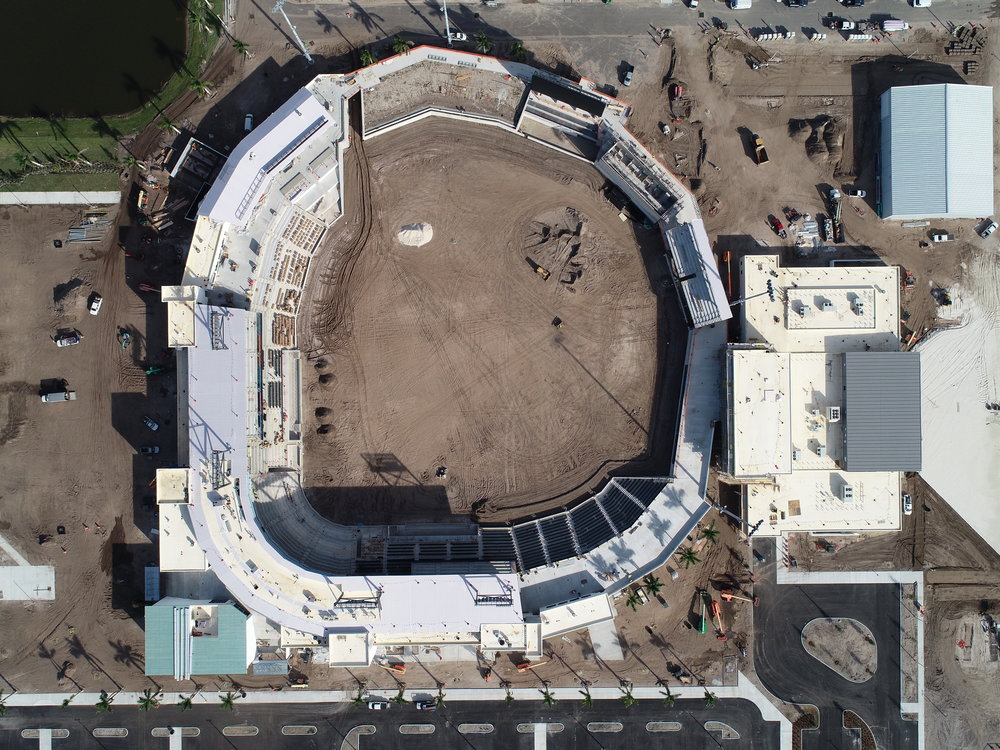"""""""The centerpiece of the new facility - is a 7,000 seat stadium with a total capacity of 8,500.""""— Associated Press"""