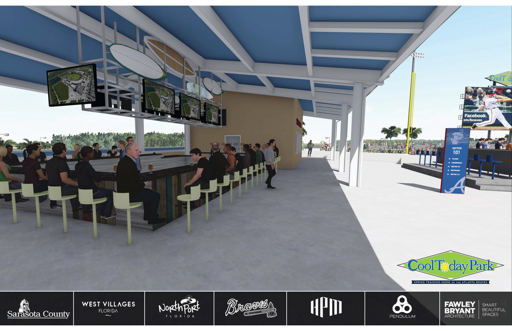 """""""The park will offer some of the best technology - for visitors including 170 wireless access points, 175 TVs and 200 speakers, along with a full 360 degree concourse.""""— Ken Rodriguez, Fox 5 Sports Atlanta"""