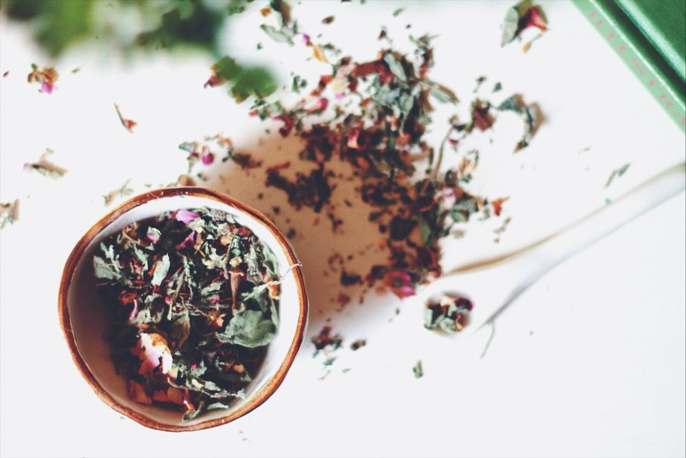tulsi rose tea for finding creativity and focus