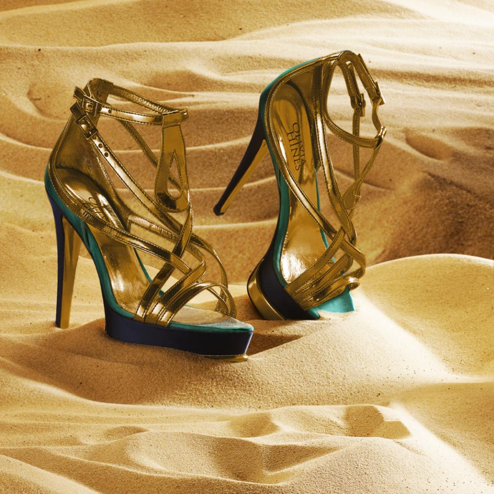 olivia hines gold sandel