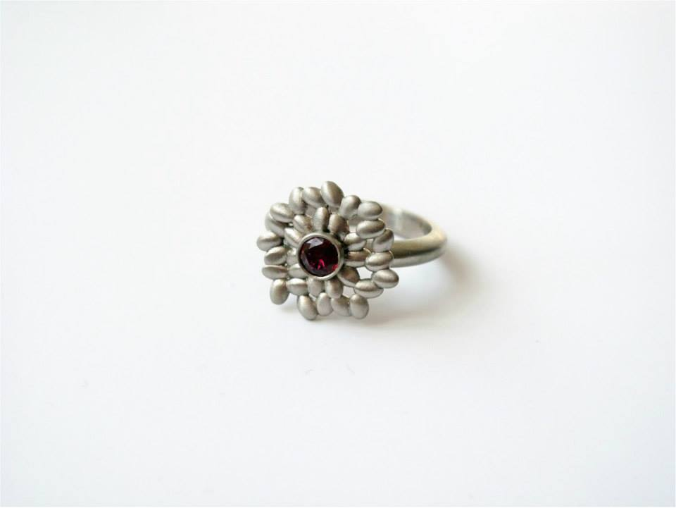 18ct White Gold and Ruby Ring