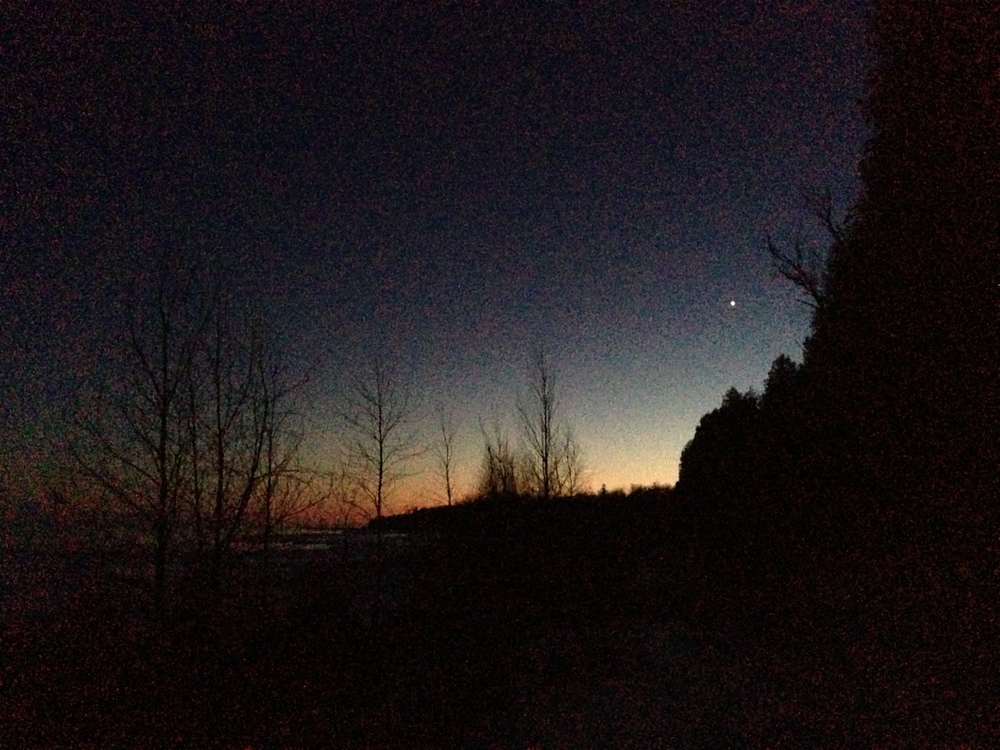A twilight view from the ice