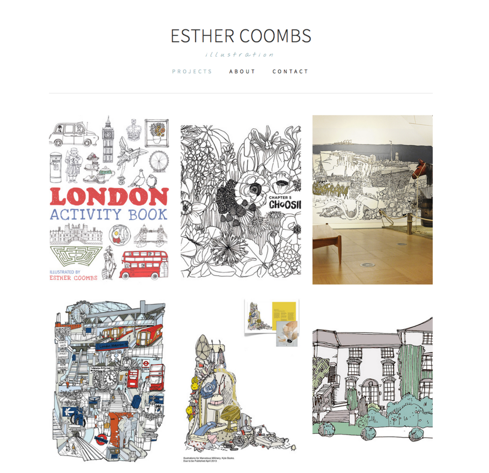 Esther Coombs Website by Yesh&Tash