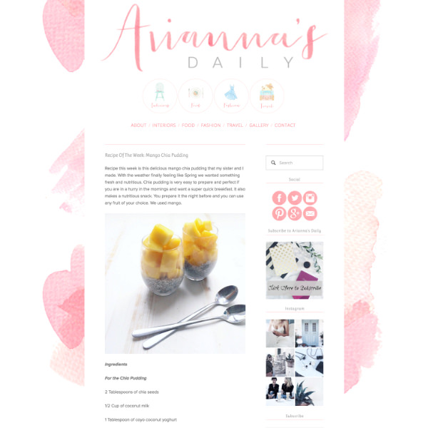 Ariannas Daily Blog