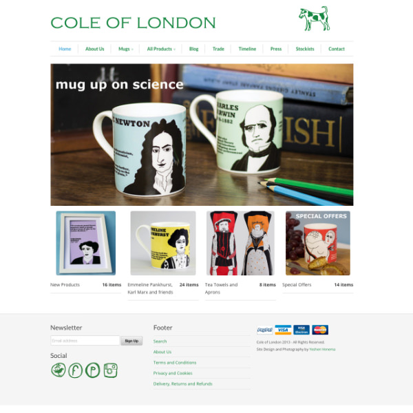 Cole of London Website