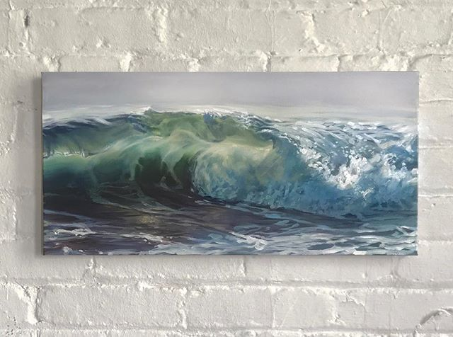 "Kkkksshhwweuurlp 10x20"" Available on website . . . . . #oilpainting #oceanpainting #oceanart #seascape #waveart #sea #ocean #instaart #painting #oiloncanvas #art #artdaily #waves"