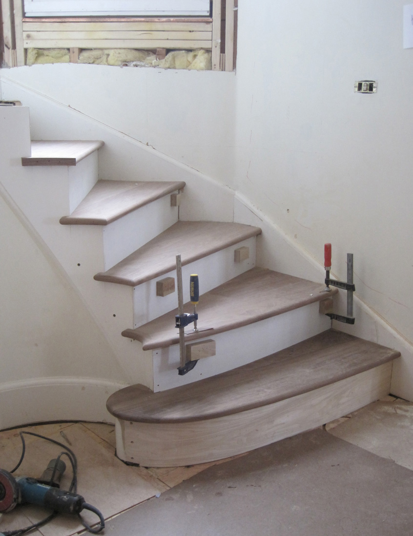 The Inner Edge Of The Stair Is Circular. Because The Stair Is Open And This  Inner Edge Is Visible, The Stair Builder Ensured Each Exposed Tread Edge Is  ...