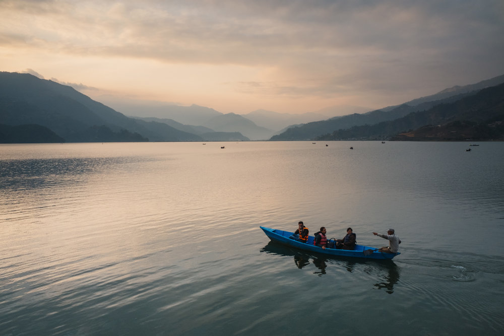 Pokhara lake can be quite a spot for thrill seekers. For an additional thrill, don't wear a life vest when you're on a boat.