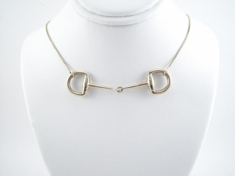 Snaffle Bit Necklace- 14kt Gold