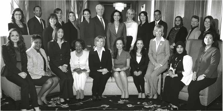 Tiffany L. Adams, President of the Cincinnati Etiquette & Leadership Institute, LLC, shown with graduation class of 2014 at the Protocol School of Washington® conference in Washington, D.C.