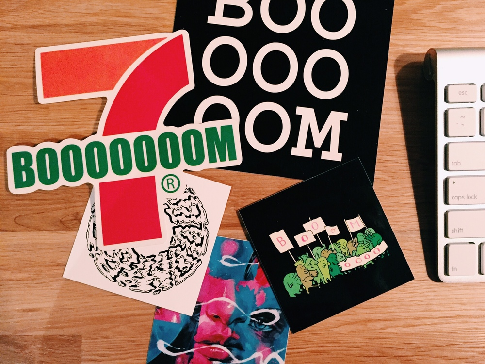 Stickers from BOOOOOOOM!