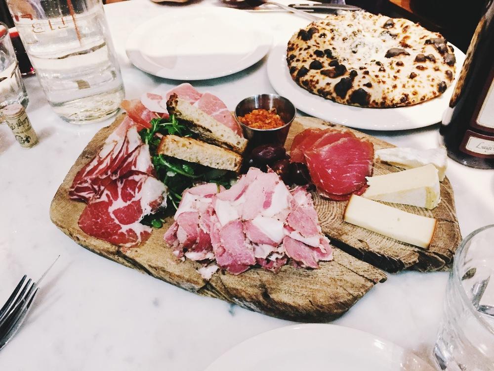 Delicious charcuterie at Pizza Libretto.