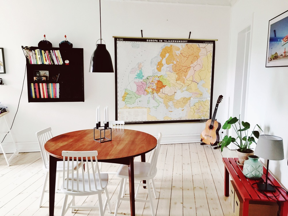 Our Scandinavian flat during our stay. One of my favourites so far.