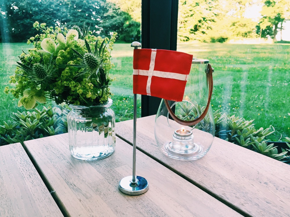 A Danish flag for my (early) birthday. A Danish tradition.