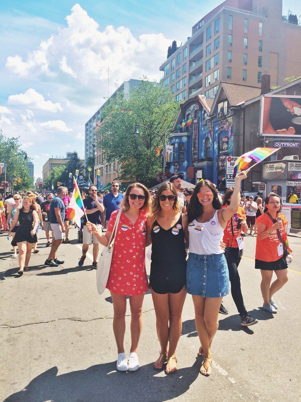 Pride festivities.