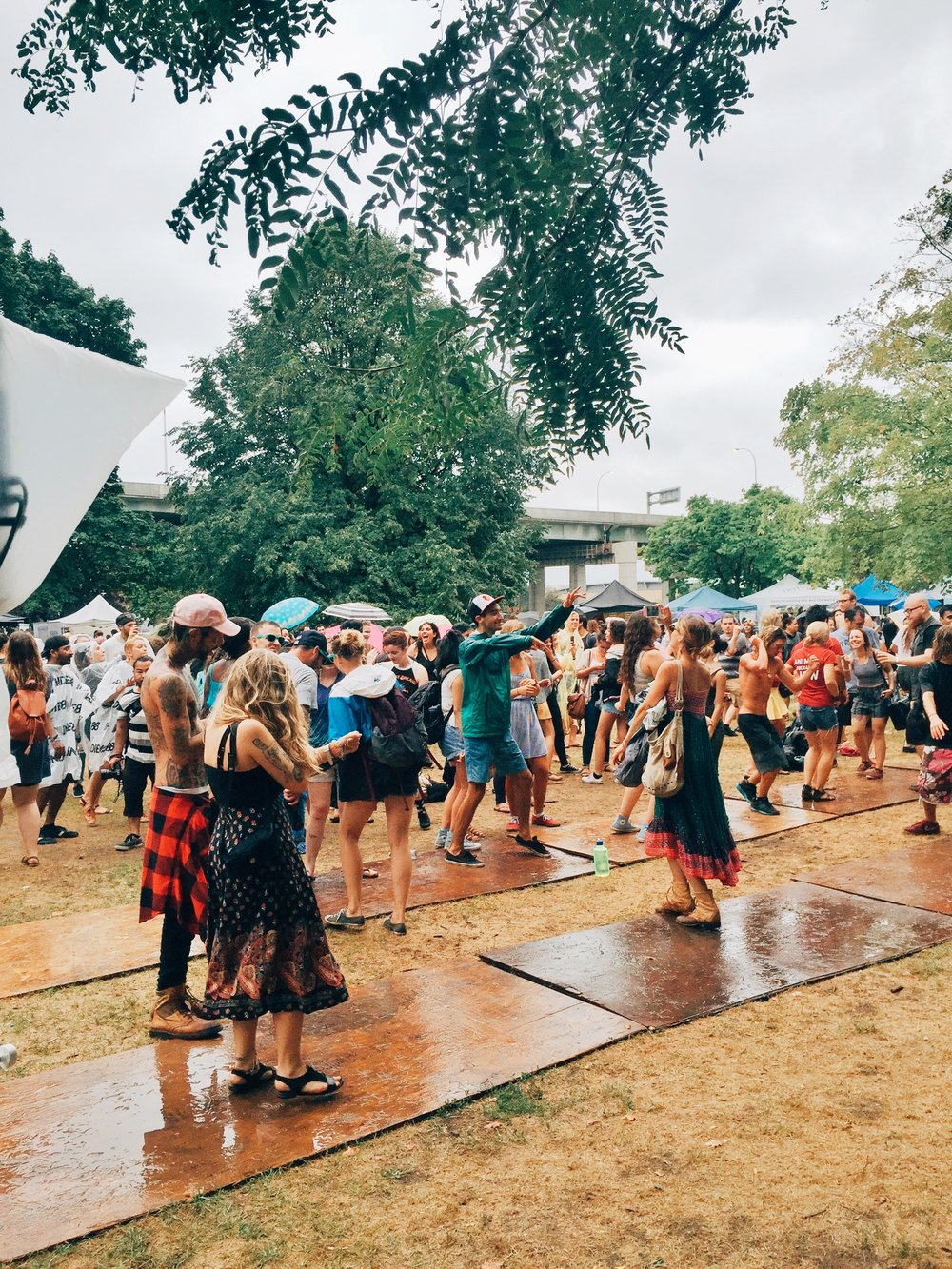 Vegan Food Festival  rain dance.