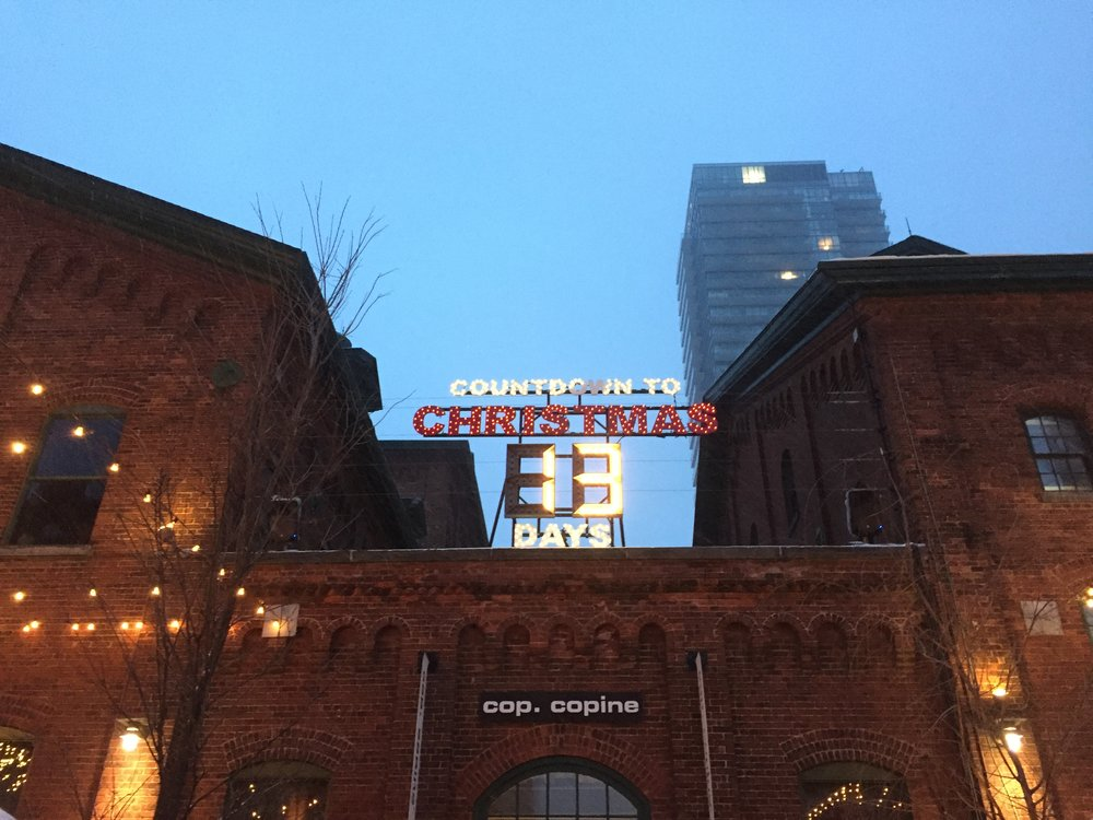 The Christmas Market in the Distillery District.